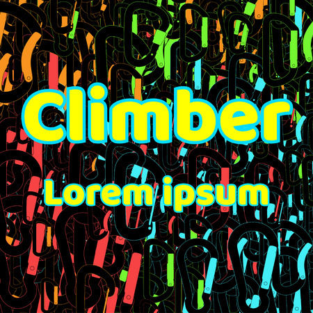 webbing: Logo for shirts. Climber abstract pattern.
