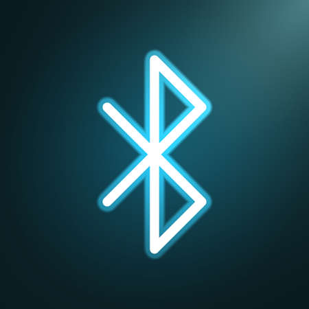 bluetooth: Bluetooth glow icon Illustration