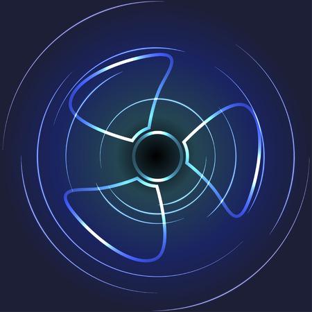 Cooling fan art. Ventilator symbol.