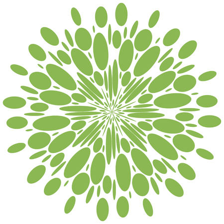 Abstract radial shape. greenery isolate pattern Illustration
