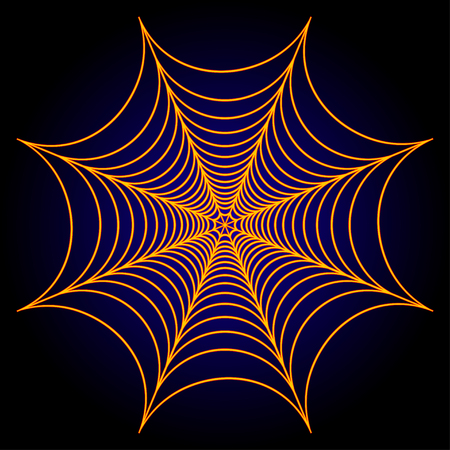 Spider web cobweb background. Vector illustration. Çizim
