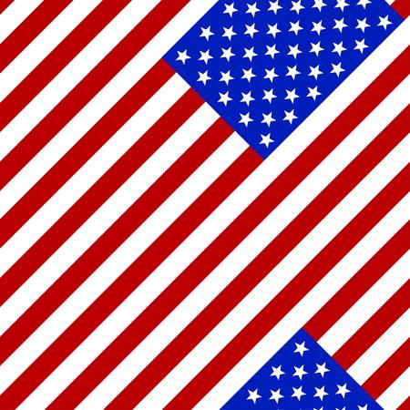 symbolics: Seamless pattern. Flag of the USA. Illustration