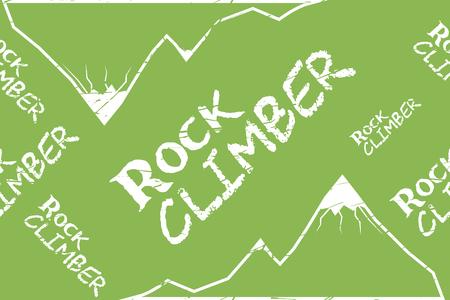 alpinism: Kinesio tape horizontal seamless pattern or background. Rock climber mountain, sport textile vector Illustration
