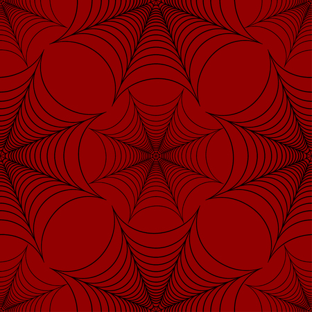 dangerous man: Stylized spider web seamless pattern black and red vector Illustration
