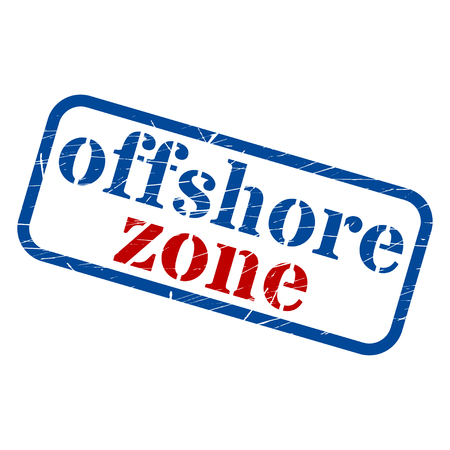 Offshore zone Stamp Grunge Sign Vector