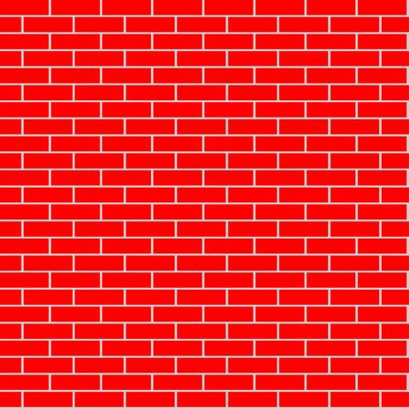 grid background: Cartoon seamless flat brick wall texture Vector illustration