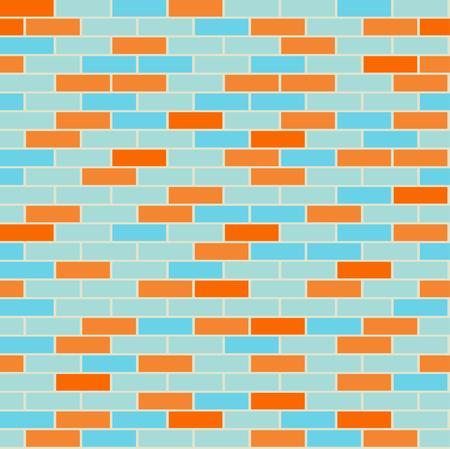 Cartoon naadloze coloful platte bakstenen muur textuur. Vector