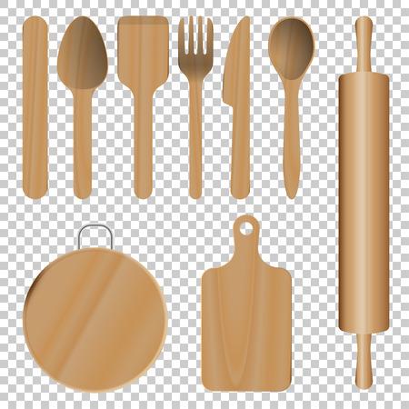 Wooden Kitchen Utensils Zdjęcie Seryjne - 84414088