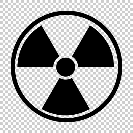 uranium: radiation nuclear symbol, isolated on transparent background