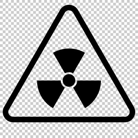 uranium: Radiation Hazard Sign. Symbol of radioactive threat alert. Danger label.