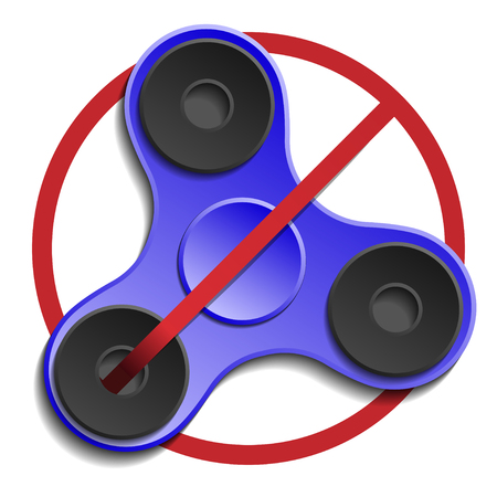 prohibit: Banned or Not Allowed to Use a Fidget Spinner concept.
