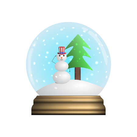 Glass Snow Globe souvenir