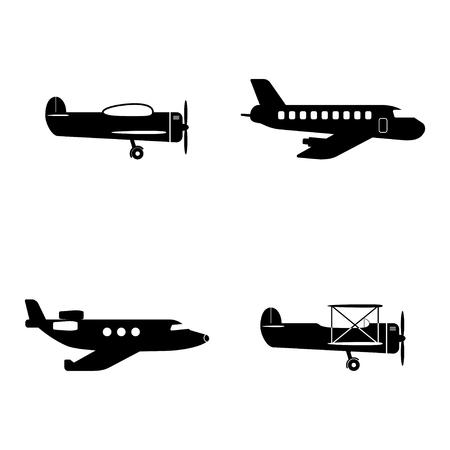 Plane icons set  イラスト・ベクター素材