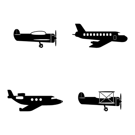 Plane icons set Vettoriali