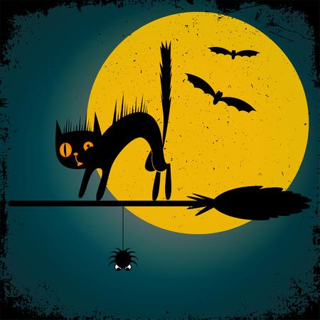 of helloween: Happy Halloween background. Vector illustration. Illustration