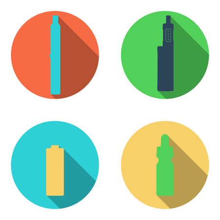Rounded Vape icons set on a white background.