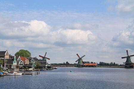 windmill in a cloudy day in Zaanse Schans - Amsterdam