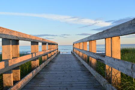 Boardwalk to Lawrencetown beach Nova Scotia