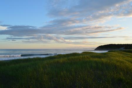 scotia: Sunset at Lawrencetown beach Nova Scotia Stock Photo