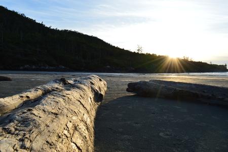 Sunset at Cox Bay Tofino B.C Stock Photo