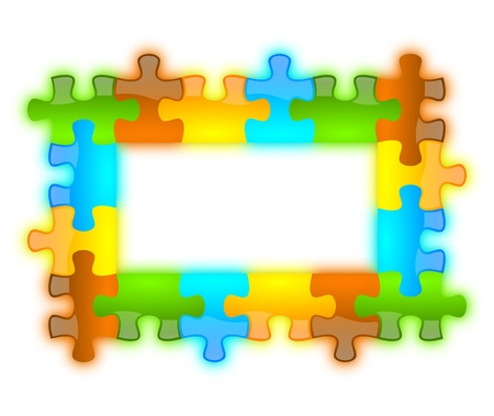 Colored and jazzy puzzle frame background 6 x 4 format photo