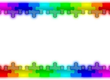 Color rainbow puzzle pieces background