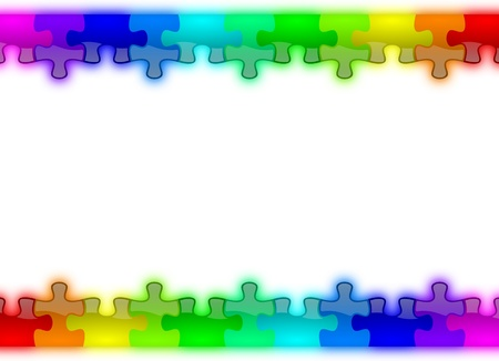 Color rainbow puzzle pieces background