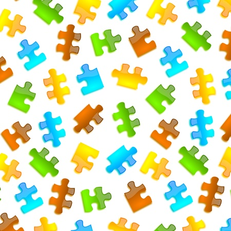 jazzy: colored puzzle background glossy style in four color and different pieces shape
