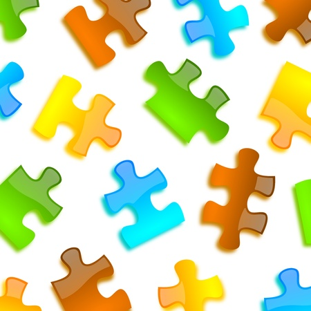 colored puzzle pieces background Stock Photo