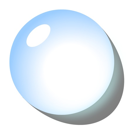 round logo: Blue drop icon with shadow on white background illustration Stock Photo
