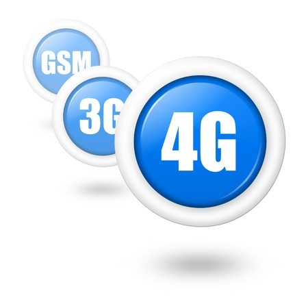 4G telecommunication progress concept illustration