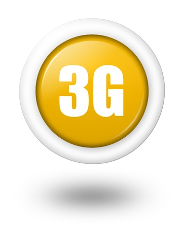 3g: 3G telecommunication symbol with shadow