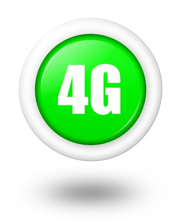 3g: 4G telecommunication symbol with shadow