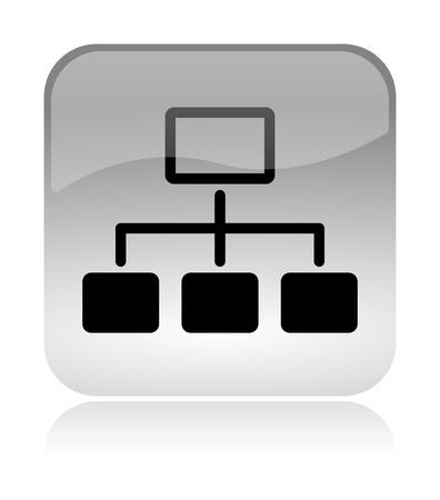 lan: Network scheme white, transparent and glossy web interface icon with reflection