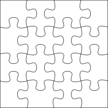 Puzzle background template 4x4 usefull for masking photo and illustration