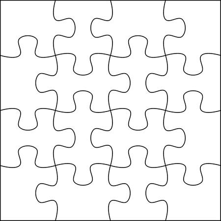 entreprise puzzle: Template background Puzzle 4x4 utile pour la photo de masquage et d'illustration