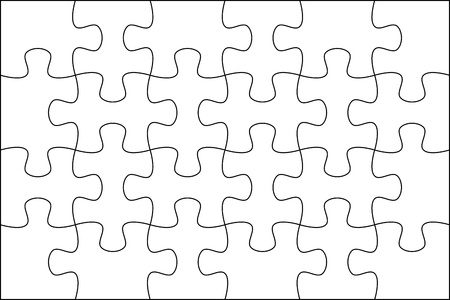 Puzzle background template 6x4 usefull for masking photo and illustration Stock Photo