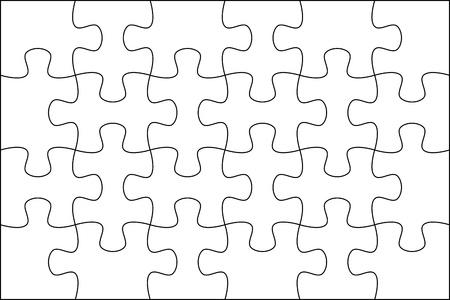 Puzzle background template 6x4 usefull for masking photo and illustration Standard-Bild