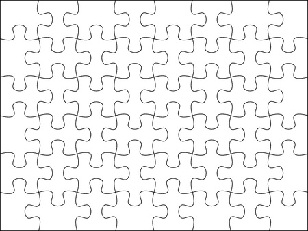 competence: Puzzle background template 8x6 usefull for masking photo and illustration