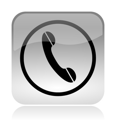 handset, support, white, transparent and glossy web interface icon with reflection photo