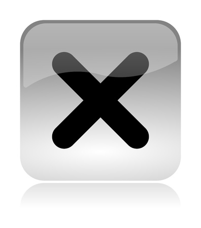 cross mark: Cross, uncheck, white, transparent and glossy web interface icon with reflection
