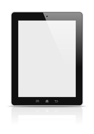 Tablet PC en ilustraci�n de fondo blanco photo