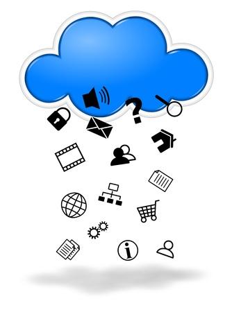 recoger: Recogida de datos cloud computing concepto de ilustración