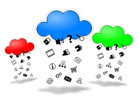 Collecting data cloud computing competition concept illustration illustration