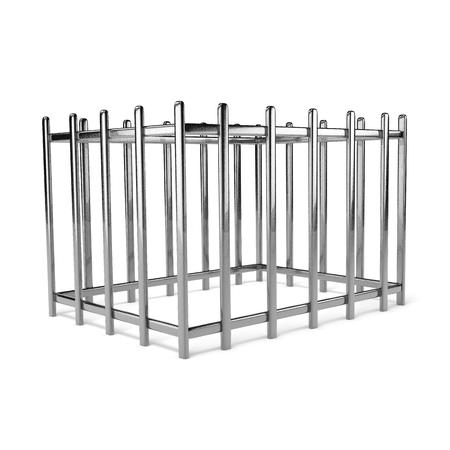 clink: Iron Empty Cage on White Background 3D Illustration