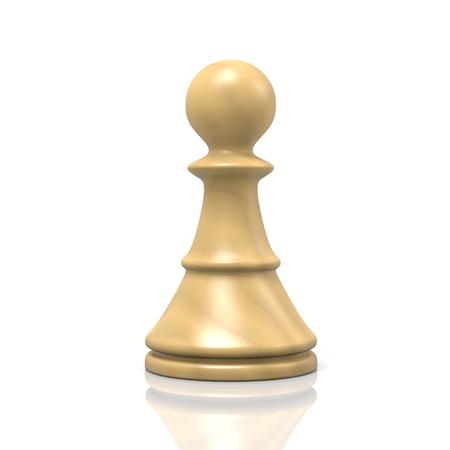 chessman: Single Isolated White Wood Chessman on White Background Stock Photo