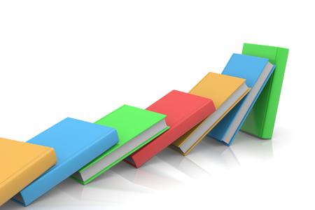 aligned: Colored Books Aligned Like