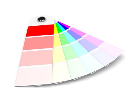 sampler: Pantone Colors Sampler on White Background Illustration