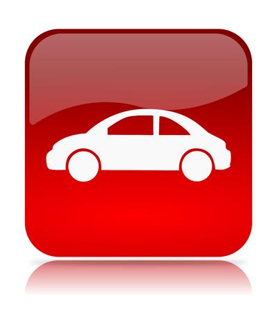 Red Car App Icon Illustration. on White Background Stock Photo
