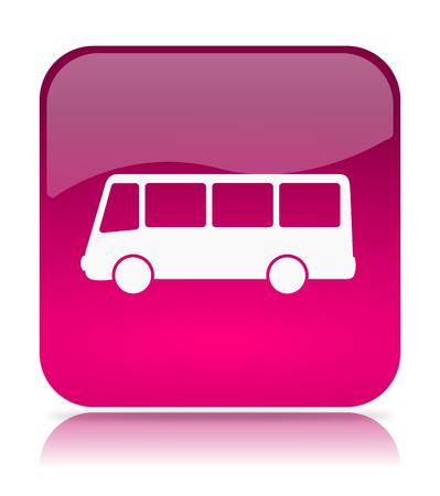 motorbus: Violeta autob�s App Icon Ilustraci�n en el fondo blanco